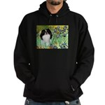 Irises/Japanese Chin Hoodie (dark)