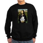 Mona Lisa/Japanese Chin Sweatshirt (dark)