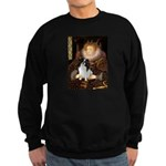 Queen/Japanese Chin Sweatshirt (dark)