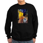 Cafe / Keeshond (F) Sweatshirt (dark)