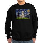 Starry Night Yellow Lab Sweatshirt (dark)