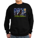 Starry Chocolate Lab Sweatshirt (dark)
