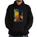 Cafe & Black Lab Hoodie (dark)