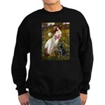 Windflowers & Black Lab Sweatshirt (dark)