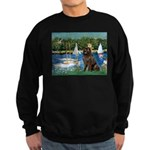 Sailboats & Newfoundland Sweatshirt (dark)