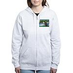 Sailboats & Newfoundland Women's Zip Hoodie