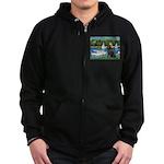 Sailboats & Newfoundland Zip Hoodie (dark)