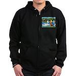 Sailboats / Nova Scotia Zip Hoodie (dark)