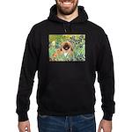 Irises / Pekingese(r&w) Hoodie (dark)