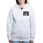 Starry / Pekingese(r&w) Women's Zip Hoodie