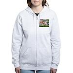 Lilies & Pitbull Women's Zip Hoodie