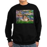 Lilies2/Pomeranian #4 Sweatshirt (dark)