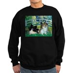 Bridge / 2 Pomeranians Sweatshirt (dark)