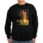 Fairies / Pomeranian (b&t) Sweatshirt (dark)