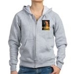 Fairies / Pomeranian (b&t) Women's Zip Hoodie