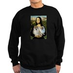 Mona/2 Pomeranians Sweatshirt (dark)