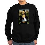 Mona / Pomeranian(r&w) Sweatshirt (dark)