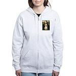 Mona/Pomeranian (#1) Women's Zip Hoodie