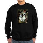 Ophelia / Pomeranian (p) Sweatshirt (dark)