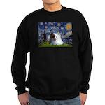 Starry/Pomeranian(r&w) Sweatshirt (dark)