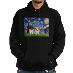 Starry Night /Pomeranian pups Hoodie (dark)