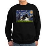 Starry Night / Pomeranian (b&w) Sweatshirt (dark)