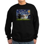 Starry/3 Pomeranians Sweatshirt (dark)