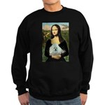 Mona Lisa/Poodle (white/toy) Sweatshirt (dark)