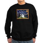 Starry Night / Poodle(w) Sweatshirt (dark)
