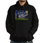 Starry Night / Poodle (s) Hoodie (dark)