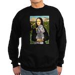 Mona Lia/Std Poodle (silver) Sweatshirt (dark)
