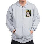 Mona / Std Poodle(w) Zip Hoodie