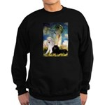 Umbrella / 2 Poodles(b & w) Sweatshirt (dark)
