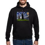 Starry / Std Poodle(bl) Hoodie (dark)
