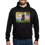 Garden / Black Pug Hoodie (dark)