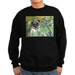 Irises / Pug Sweatshirt (dark)
