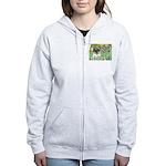 Irises / Pug Women's Zip Hoodie