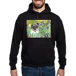 Irises / Pug Hoodie (dark)
