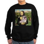 Mona's Fawn Pug (#2) Sweatshirt (dark)