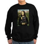 Mona's Black Pug Sweatshirt (dark)