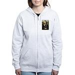 Mona's Black Pug Women's Zip Hoodie