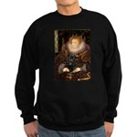 The Queen's Black Pug Sweatshirt (dark)