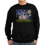 Starry Night and Pug Sweatshirt (dark)