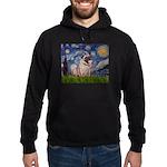 Starry Night and Pug Hoodie (dark)