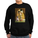 The Kiss / Pug Sweatshirt (dark)