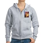 Mandolin Angel/Rottweiler Women's Zip Hoodie