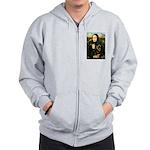 Mona Lisa/Rottweiler Zip Hoodie