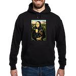 Mona Lisa/Rottweiler Hoodie (dark)