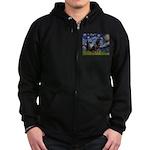 Starry/Rottweiler (#6) Zip Hoodie (dark)