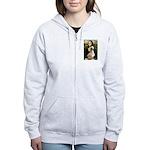 Mona Lisa (new) & Saluki Women's Zip Hoodie